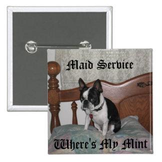 Servicio de la criada pin cuadrado