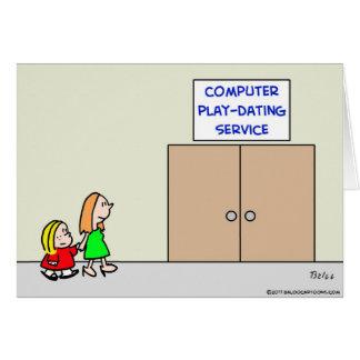 servicio de la datación del juego del ordenador felicitación