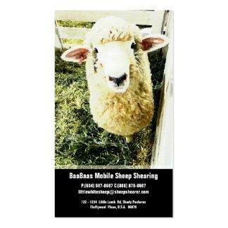Servicio de la granja o del esquileo de las ovejas tarjetas de visita