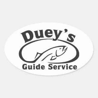 Servicio de la guía de Duey Pegatina Ovalada