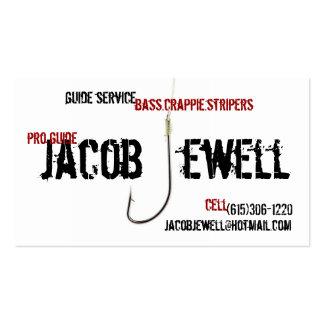 Servicio de la guía de la pesca de Jacob Tarjetas De Visita