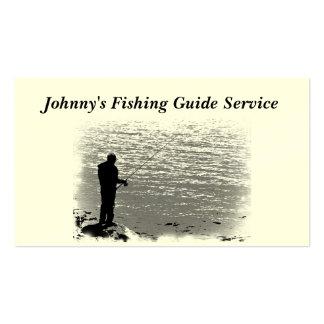 Servicio de la guía de la pesca tarjetas de visita