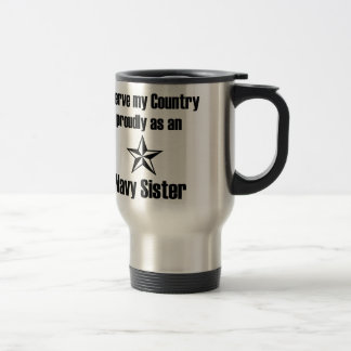 Servicio de la hermana de la marina de guerra taza de viaje