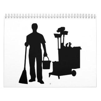 Servicio de la limpieza calendario