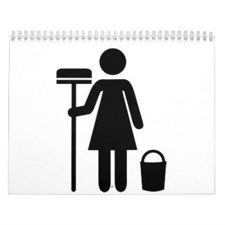 Servicio de la limpieza calendarios
