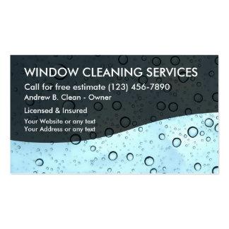 Servicio de la limpieza de ventana tarjetas de visita