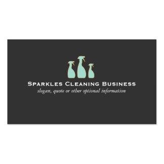 Servicio de la limpieza del hogar de la botella tarjetas de visita