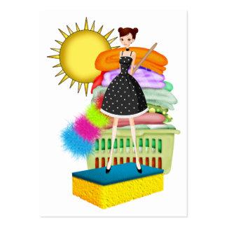 Servicio de la limpieza/el ayudante de la madre - tarjetas de visita grandes