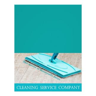 Servicio de la limpieza flyer a todo color