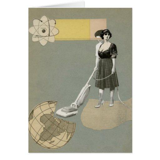 Servicio de la limpieza tarjeta de felicitación