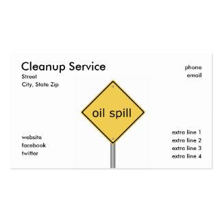 Servicio de la limpieza tarjetas de negocios