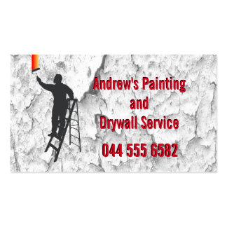 Servicio de la pintura del estuco tarjetas de visita