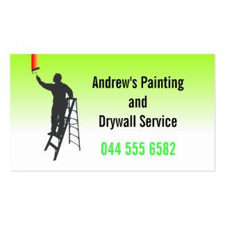 Servicio de la pintura tarjetas de visita