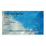 Servicio de la piscina plantillas de tarjetas personales