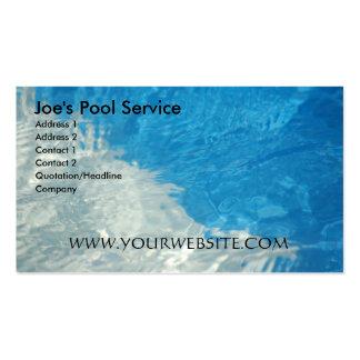 Servicio de la piscina tarjetas de visita