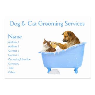 Servicio de la preparación del perro y del gato plantillas de tarjeta de negocio