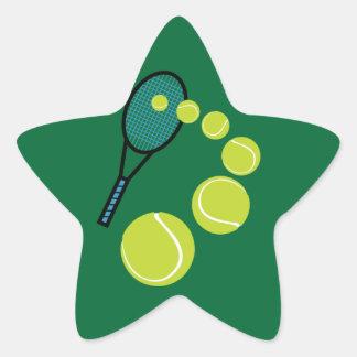 SERVICIO de la REBANADA de la FAN de tenis Pegatina En Forma De Estrella