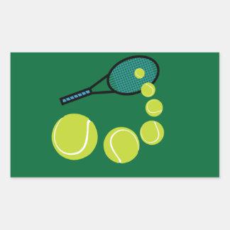 SERVICIO de la REBANADA de la FAN de tenis Pegatina Rectangular