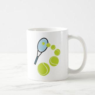 SERVICIO de la REBANADA de la FAN de tenis Taza De Café