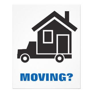 """servicio de la relocalización o compañía móvil folleto 4.5"""" x 5.6"""""""