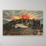 Servicio de la salida del sol de Pascua en Mt. Rub Posters