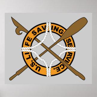 Servicio de la salvación de vidas de USCG Póster
