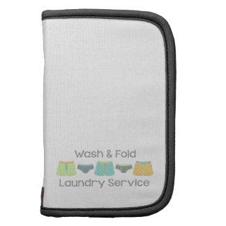 Servicio de lavadero del lavado y del doblez planificadores