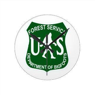 Servicio de los E.E.U.U. Bigfoot Relojes De Pared