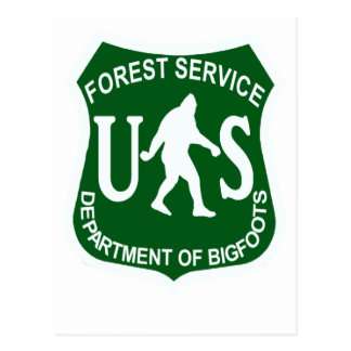 Servicio de los E.E.U.U. Bigfoot Tarjeta Postal
