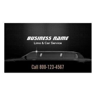 Servicio de lujo del Limo y del coche del fondo Tarjetas De Visita