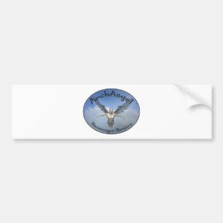 servicio de mensajero del arcángel pegatina de parachoque