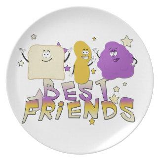 Servicio de mesa de los mejores amigos platos