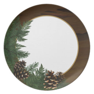 Servicio de mesa del cono del pino de la cabina de plato de cena