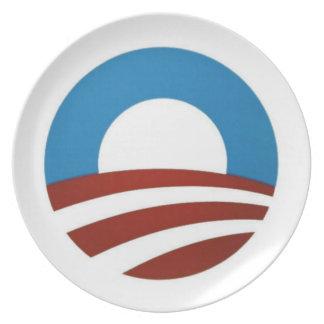 Servicio de mesa político correcto platos de comidas