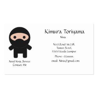 Servicio de Ninja Tarjeta De Visita