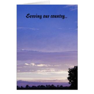 Servicio de nuestro país. tarjeta de felicitación