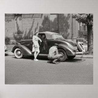 Servicio de reparación auto, 1942 poster