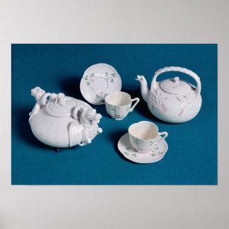Servicio de té de Belleek Póster