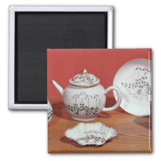 Servicio de té presentado a Carl Linnaeus Imán Cuadrado