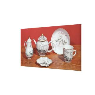 Servicio de té presentado a Carl Linnaeus Impresion De Lienzo