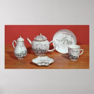 Servicio de té presentado a Carl Linnaeus Póster