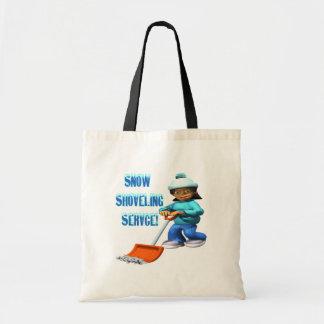 Servicio de traspaleo de la nieve bolsa de mano