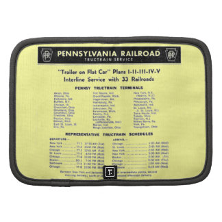 Servicio de TrucTrain del ferrocarril de Pennsylva Planificador