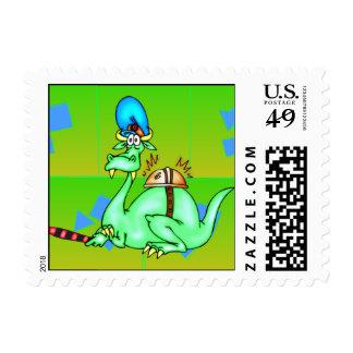 Servicio del abastecimiento del dinosaurio sellos postales