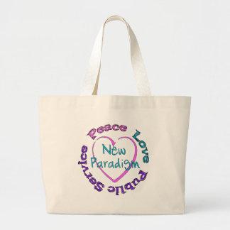Servicio del amor de la paz bolsas de mano