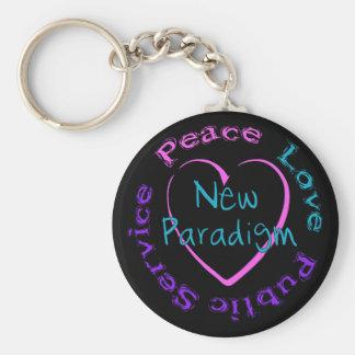 Servicio del amor de la paz llavero personalizado