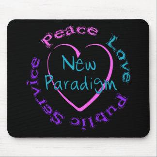 Servicio del amor de la paz tapete de raton
