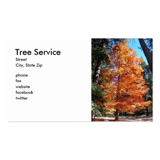 Servicio del árbol tarjetas de visita
