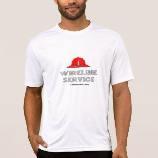 Servicio del cable metálico, camiseta del cable
