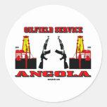 Servicio del campo petrolífero de Angola, pegatina